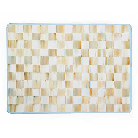 Parchment Check Cork Back Placemats - Set of 4 image three