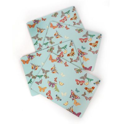 Butterfly Garden Cork Placemats - Sky -Set of 4