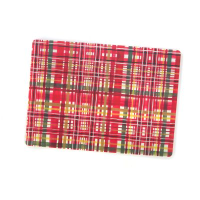 Festive Tartan Cork Back Placemats - Set of 4