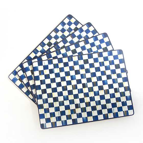 Royal Check Cork Back Placemats - Set of 4