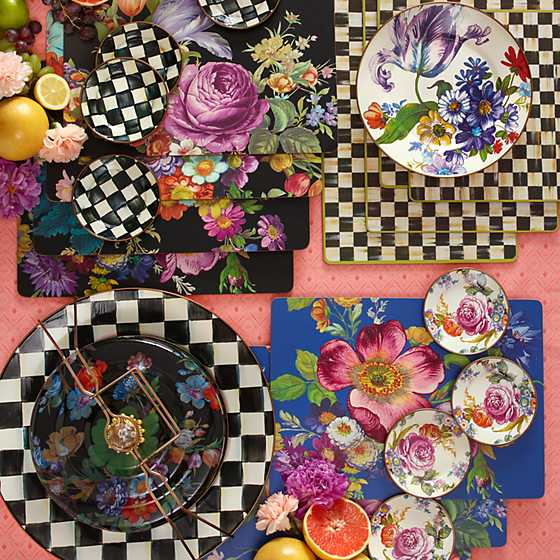 Flower Market Lapis Cork Back Placemats - Set of 4 image five