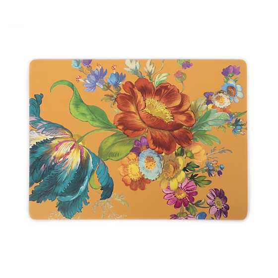 Flower Market Ochre Cork Back Placemats - Set of 4