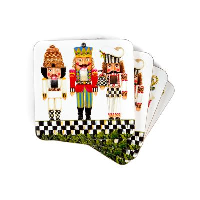 Nutcracker Brigade Cork Back Coasters - Set of 4