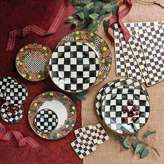 Courtly Check Cork Back Coasters - Set of 4 image six