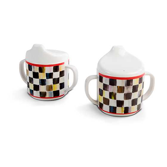 Courtly Check Sippy Cups - Set of 2 image three