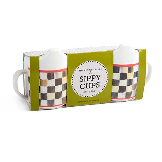 Courtly Check Sippy Cups - Set of 2
