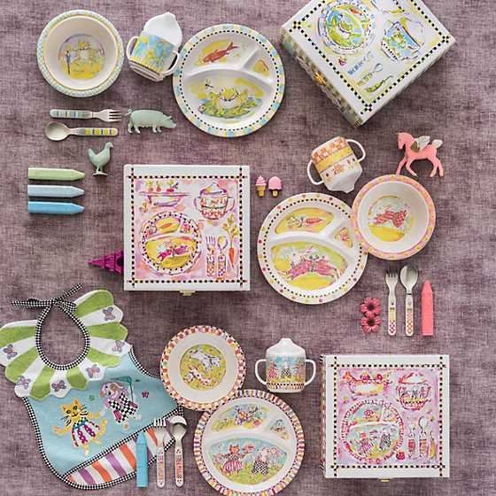 Toddler's Dinnerware Set - Frog image two