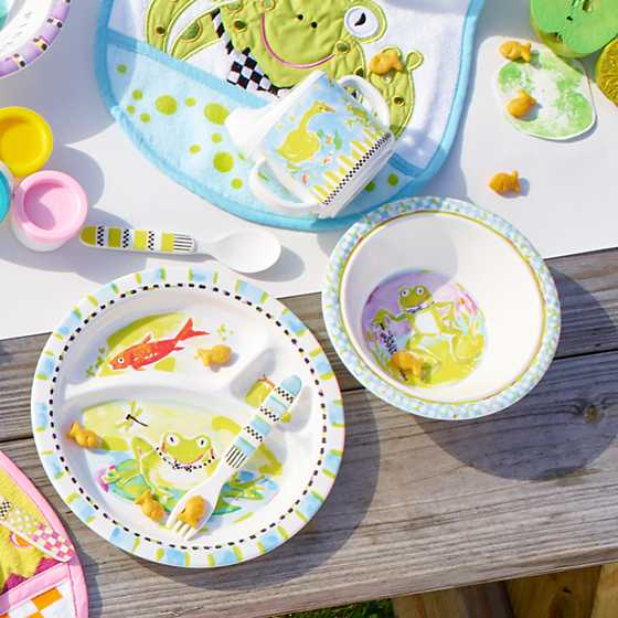 Toddler's Dinnerware Set - Frog image seven