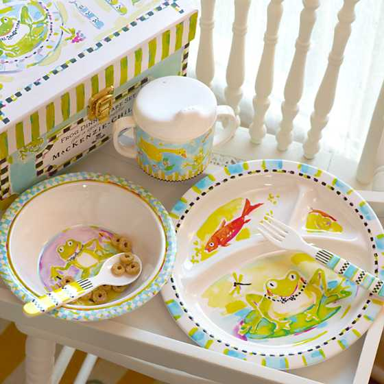Toddler's Dinnerware Set - Frog image ten
