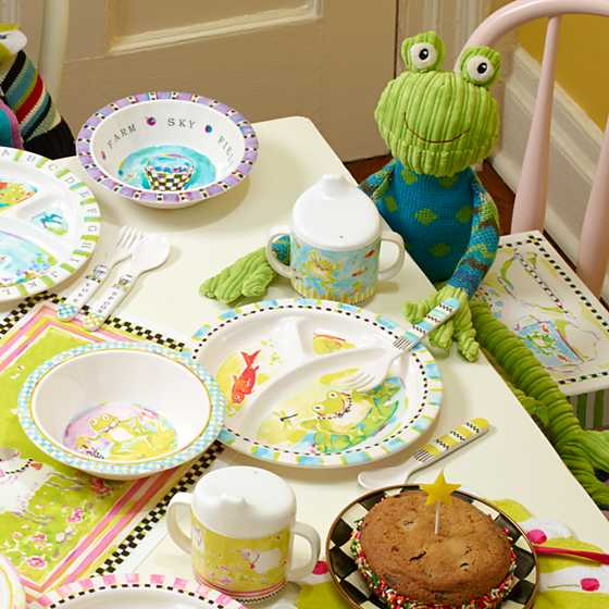 Toddler's Dinnerware Set - Frog image eleven