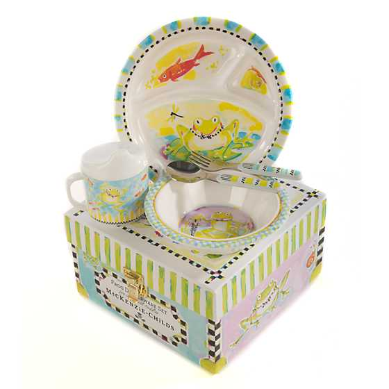 Toddler's Dinnerware Set - Frog image three