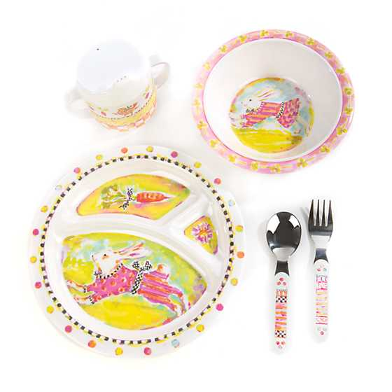 Toddler's Dinnerware Set - Bunny image one