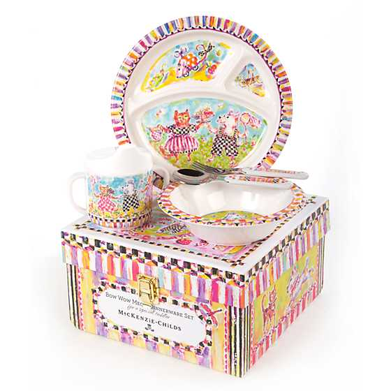 ... Toddleru0027s Dinnerware Set - Bow Wow Meow ...  sc 1 st  MacKenzie-Childs : mackenzie dinnerware - pezcame.com