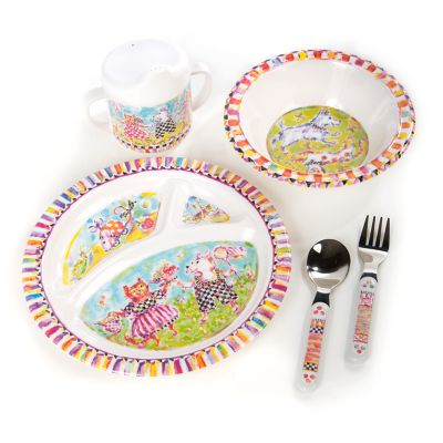 Toddler's Dinnerware Set - Bow Wow Meow