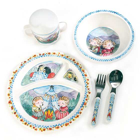 Toddler's Dinnerware Set - Happy Campers image four