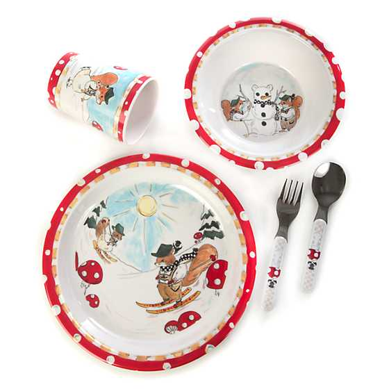 Toddler's Dinnerware Set - Nutkin Manor image two