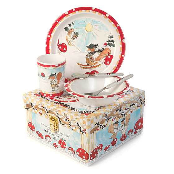 Toddler's Dinnerware Set - Nutkin Manor image three