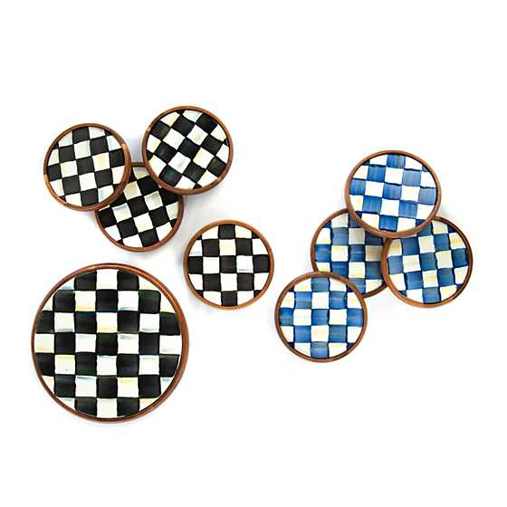 Courtly Check Coasters - Set of 4 image three