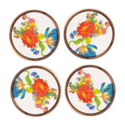 Flower Market Coasters - Set of 4