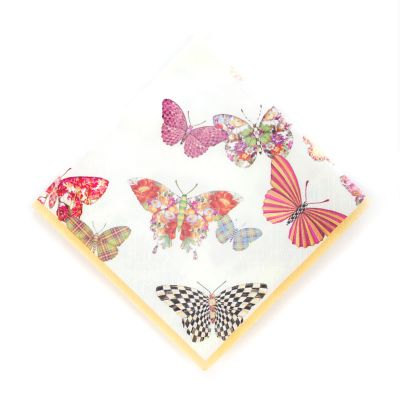 Butterfly Garden Paper Napkins - Cocktail