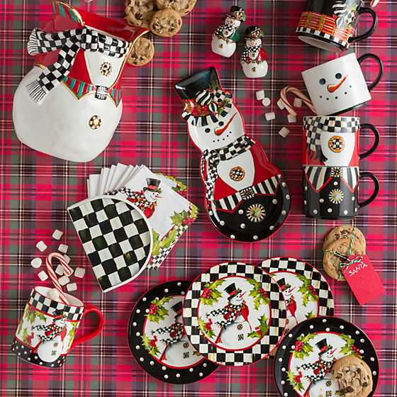 Top Hat Snowman Paper Napkins - Cocktail image two