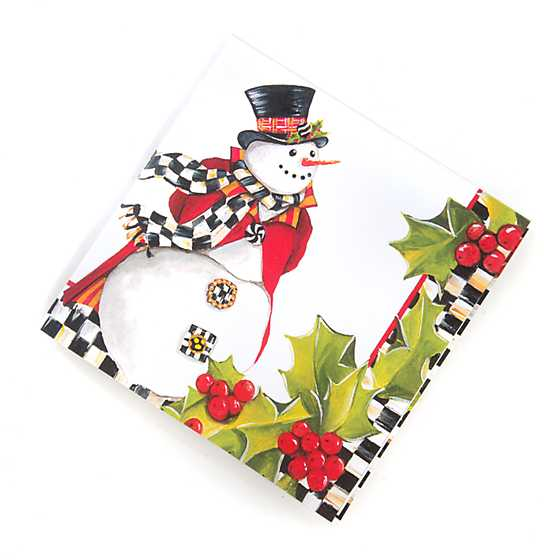 Top Hat Snowman Paper Napkins - Cocktail