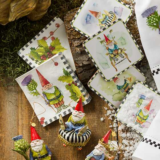 Home Sweet Gnome Paper Napkins - Cocktail image two
