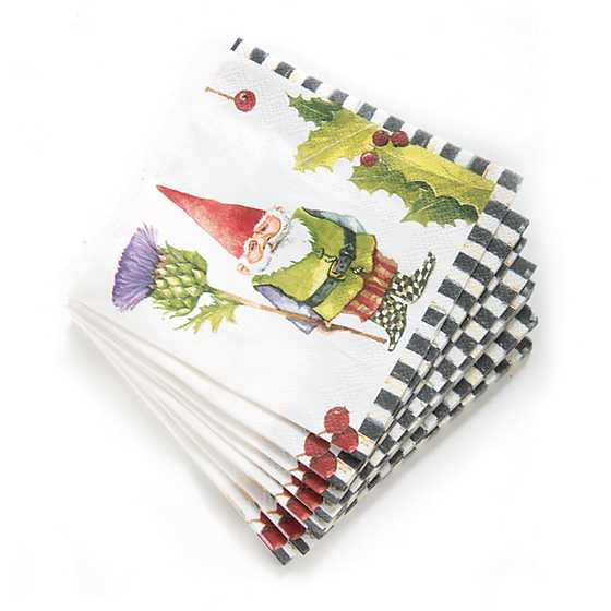 Home Sweet Gnome Paper Napkins - Cocktail image three