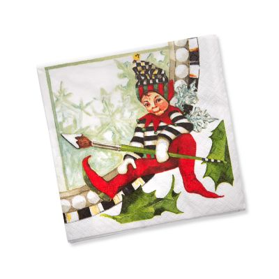Christmas Pixie Paper Napkins - Cocktail
