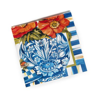 Ming Poppies Paper Napkins - Cocktail