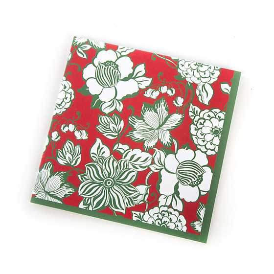 Winter Bouquet Paper Napkins - Cocktail image two