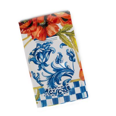 Ming Poppies Paper Napkins - Guest