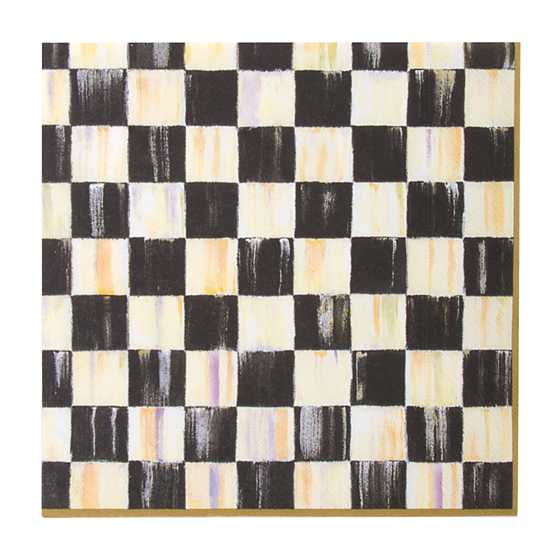 Courtly Check Paper Napkins - Dinner - Gold