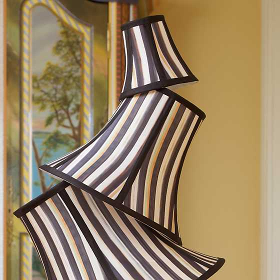 Courtly Stripe Shade - Chandelier image two