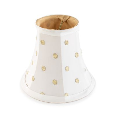 Polka Dot Chandelier Shade - White