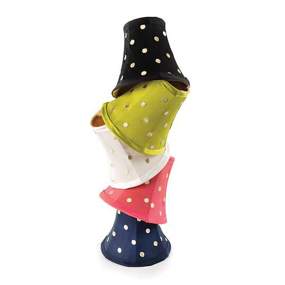 Polka Dot Chandelier Shade - Navy image three