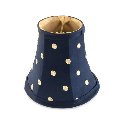 Polka Dot Chandelier Shade - Navy