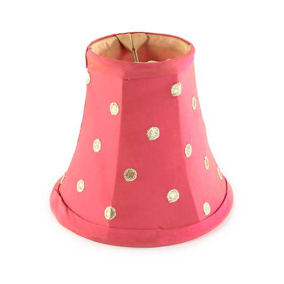Polka Dot Chandelier Shade - Pink