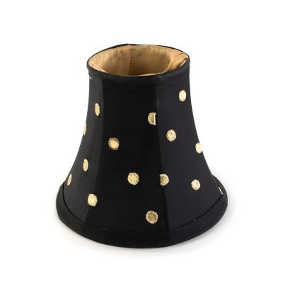 Polka Dot Chandelier Shade - Black