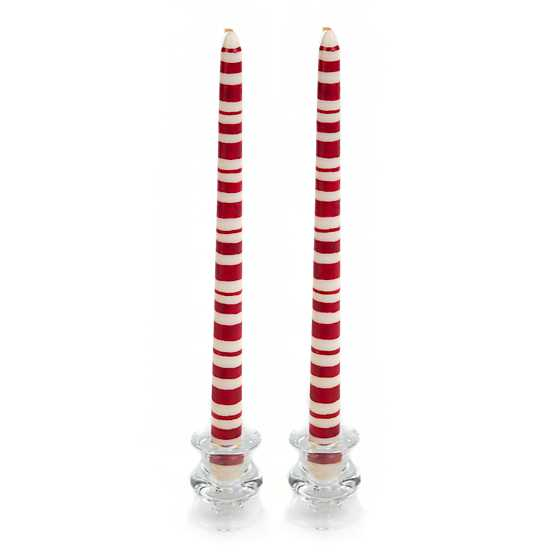 Multi Rings Dinner Candles - Red - Set of 2 image two