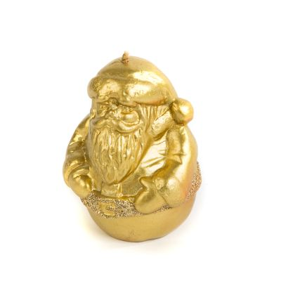 Traditional Santa Candle - Gold