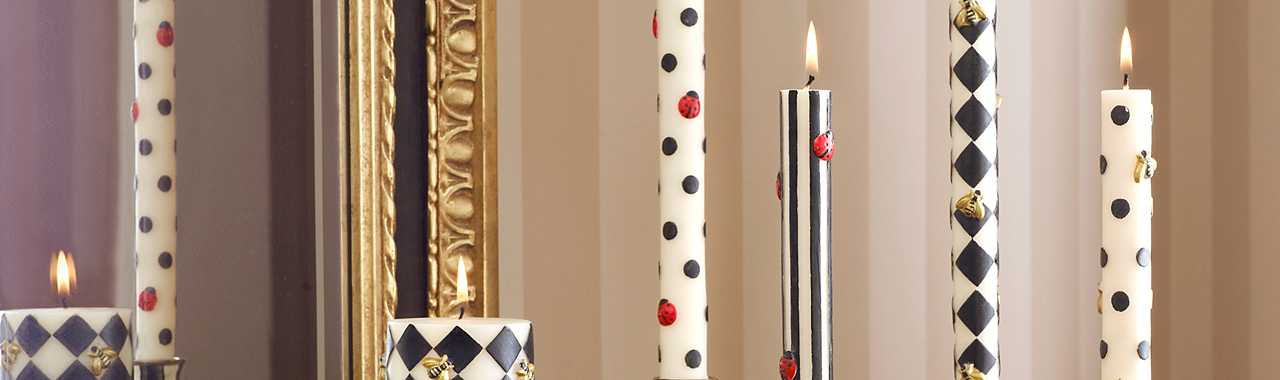 Ladybug Dinner Candles - Black - Set of 2 Banner Image