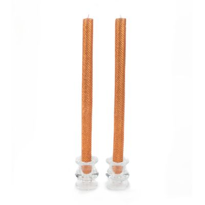 Shimmer Dinner Candles - Copper - Set of 2
