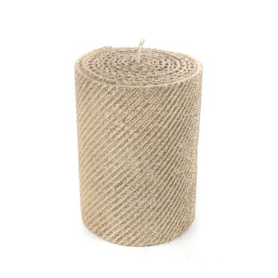 "Shimmer Pillar Candle - 4"" - Gold"