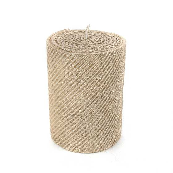 Shimmer Pillar Candle - Gold image one