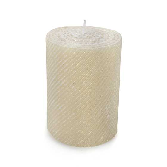 Shimmer Pillar Candle - Pearl image two