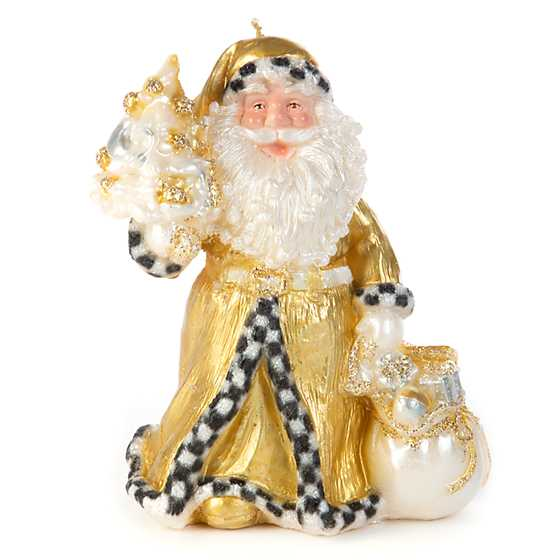 Night Before Christmas Santa Candle - Gold image two