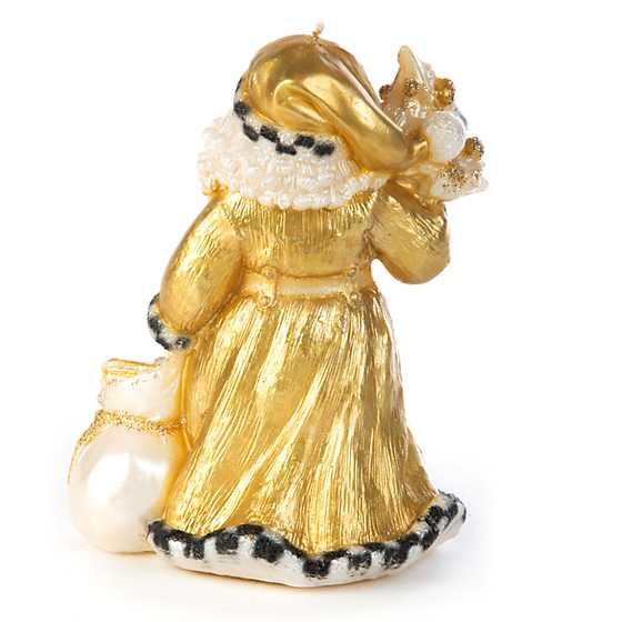 Night Before Christmas Santa Candle - Gold image three