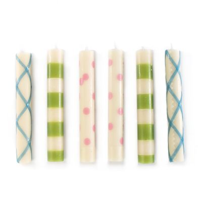 Mini Dinner Candles - Springtime - Set of 6