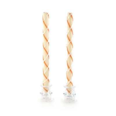 Fishnet Dinner Candles - Clay & Ivory - Set of 2